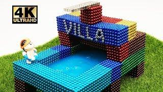 ASMR - How To Make House Villa and Pool with Magnetic Balls | Magnet World 4K