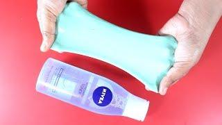 How To Make Slime With Face Toner? NO BORAX!! Simple Easy Slime Recipe