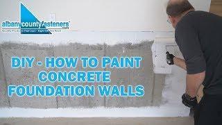 How to Prep, Prime, & Paint Concrete Foundations | DIY Home Improvement