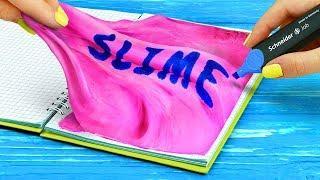 10 DIY Squishy School Supplies vs Slime School Supplies Challenge