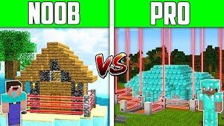 Minecraft NOOB vs PRO: SAFEST HOUSE Challenge in Minecraft / Animation