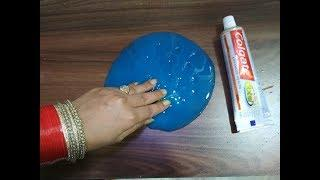 How to make slime with toothpaste at home | Slime Challenge| DIY Colgate Slime