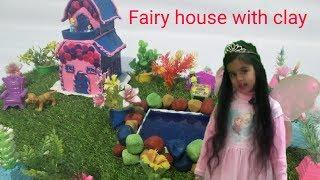 How to make a fairy house with clay for kids in easy way. Clay house. Angel clay creations.