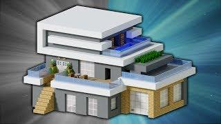 How to Build a Large Modern House [#3]   Minecraft