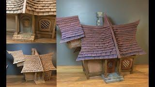 How to Make a Fantasy House from Recycled Cardboard - Easy DIY