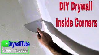How to hand tape an inside drywall corner with paper tape: Diy drywall