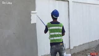 របៀបលាបថ្នាំជញ្ជាំងរបង, How to paint a wall fence