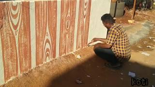 Wall painting design ideas for old compound wall Asian paints