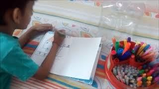 Kavish doing painting, Kids painting,Colors for children to learn toddlers and preschool baby