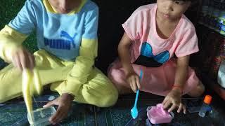 How To Make Slime color Yellow +Pink