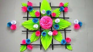 DIY. Simple Home Decor. Wall Decoration Door. Hanging Flower. newspaper recycle Craft Ideas #56