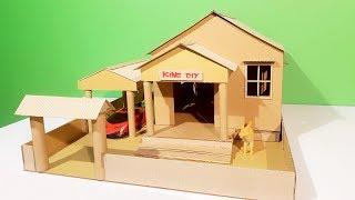 How to make a small cardboard house for kids - DIY Cardboard House for Kids