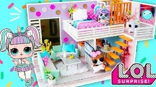 How to Make Miniature LOL SURPRISE Dollhouse Room ♥ Custom Unicorn House DIY