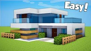 Minecraft: How To Build A Small & Easy Modern House - Tutorial