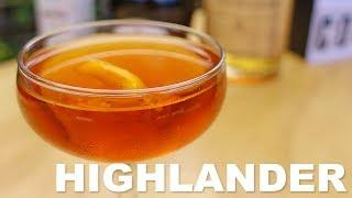 Highlander Cocktail Recipe - Scotch, Dom Benedictine and Bitters