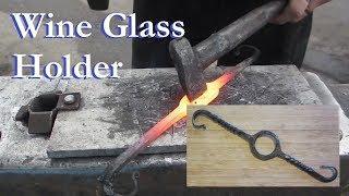 Trillium Forge: Wine glass holder