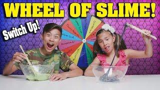 MYSTERY WHEEL OF SLIME CHALLENGE - SWITCH UP!!! Making Slime with Cereal and Popcorn!