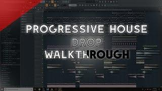 How to Make Progressive House/EDM Drop Walkthrough | FL Studio 20