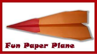 How to make a fast paper airplane easy