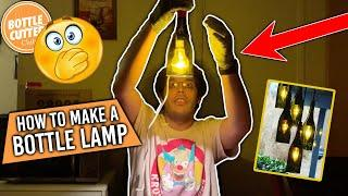 Bottle Cutter Club - Project #5 Making a bottle lamp out of an empty wine glass bottle home decor