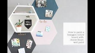 How to paint a notice board with Annie Sloan Wall paint