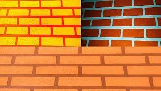 wall putty brick wall texture design (Aasif Ali 8923205965