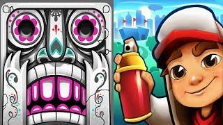 iGameMix????Subway Surfers ATLANTA Vs  Temple Run 2 Fullscreen☑️Montana Smith & E.Z*Gameplay Kid #44