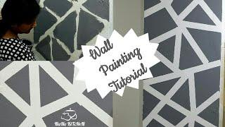 Geometric Wall Painting Tutorial Step by Step / DIY