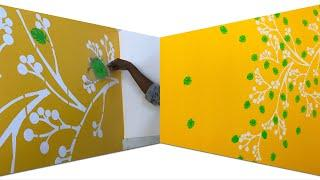 Wall texture designs.asian paints spring stencils