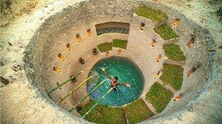 Build Most Amazing Secret Ancient Underground Deep Pool With Secret Underground House