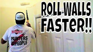 Learn How To Easily Roll Your Walls Fast Like a Pro Painter!