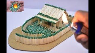 How to Make Match House at Amazing  Fire Domino   Match Chain Reaction   Match Stick House