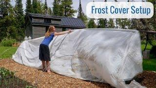 Life in a Tiny House called Fy Nyth - Frost Cover Setup, 2000 sqft covered for $200
