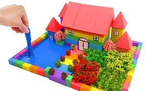 How To Make Garden House, Flower Garden, Swimming Pool with Mad Mattr, Slime