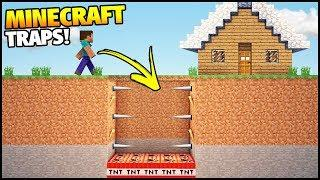 Minecraft: Easy Invisible and Hidden Traps! - House Tutorial