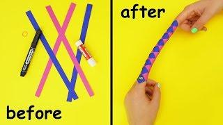 How To Make Funny Paper Game For Less Than 3 Minutes | DIY Chinese Finger Trap | Origami Finger Trap