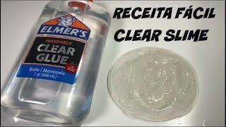 RECEITA SUPER FÁCIL DE COMO FAZER CLEAR SLIME - FAMILY FUN 5 - HOW TO MAKE CLEAR SLIME
