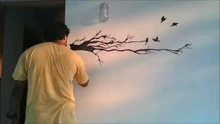 Simple wall painting with marker pen