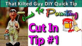 Cut in Tips for painting walls and ceilings. The BEST cut in bucket!