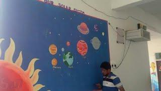 solar system wall painting part 3 for kids.