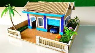 Building An Easy Cardboard Mansion House with Garden #55   Backyard Crafts