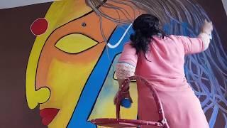 Shiva Parvati on Wall Painting | Babita Keshan
