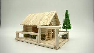 How to make a Small and Beautiful House for a gift - Popsicle Stick House