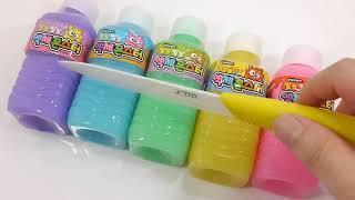 DIY-How To Make Glitter Feet Slime-Learn Colour-Slime