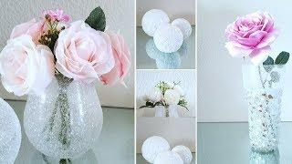 HOW TO MAKE 3 SPRING DECOR IDEAS! | 3 GLAM DECOR IDEAS | INEXPENSIVE DIYS | CRUSHED GLASS DECOR 2019