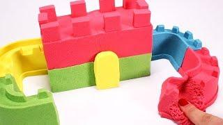 HOW TO MAKE A CASTLE WITH KINETIC SAND ???? Very Satisfying and Relaxing Videos For Kids