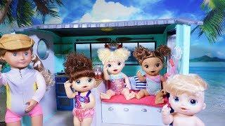 BABY ALIVE Goes To A Beach House And Surfs!