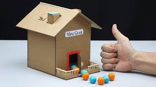 How to Make Gumball Vending Machine House