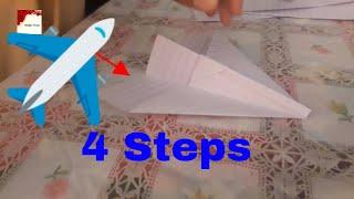 How to Make Paper Airplanes, in 4 Steps || Easy and Simple airplane - 2482018