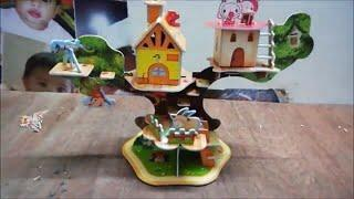 How to Make 3D Puzzle | 3D House Puzzle for kids | 3D forest house